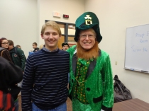 Enjoying the moment with a student who has a heart as big as a pot of gold.