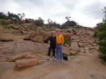 Kathy and Robert Littlefield on Enchanted Rock near Llano, TX