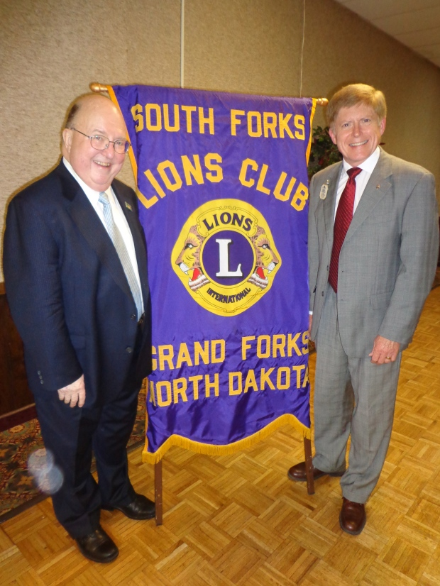PIP Bill Biggs has never forgotten his Lion roots, pictured here with ID-Elect Robert Littlefield.