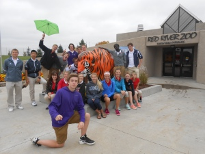 Some of my students on Deacon Day at the Red River Zoo
