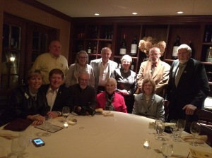 District 20-O Leadership Team at dinner before the convention.