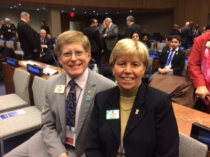 ID Robert and Kathy at 37th Annual Lions Day at UN
