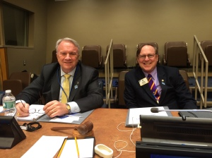 PIP Al Brandel and President Joe Preston led the programs at Lions Day at the UN.