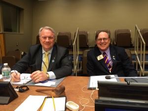 PIP Al Brandel and President Joe Preston led the programs at Lions Day at the UN.