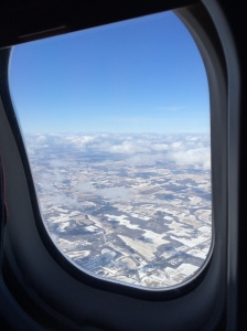 There wasn't much snow on the ground upon our return to Fargo.