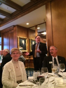 President Joe Preston praises the work of those participating in Capitol Hill Day (In the foreground are ID Linda and Vern Tincher).