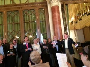 Directors' Chorus sings with IP Dr. Yamada.