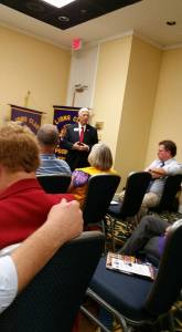 PID Wayne Davis addresses Lions about the future of Lionism.