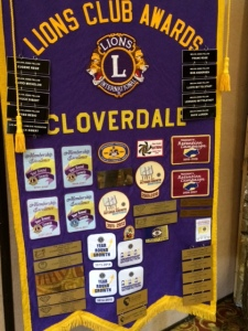 The Cloverdale Lions provided the hospitality for the convention--boy, do they know their business!